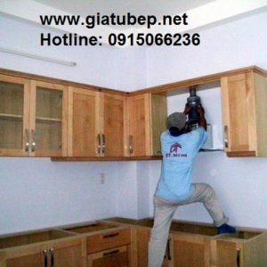 Tủ bếp gỗ phong cách