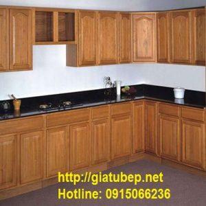 Giá tủ bếp gỗ xoan đào