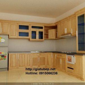Tủ bếp gỗ cho gia đình