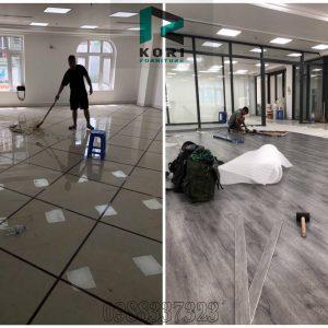 Sàn nhựa glotex – Báo giá thi công sàn nhựa giả gỗ